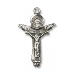 Sterling Silver Trinity Crucifix Pendant