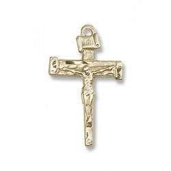 Gold Filled Nail Crucifix Pendant