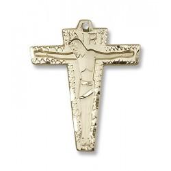 Gold Filled Primative Crucifix Pendant