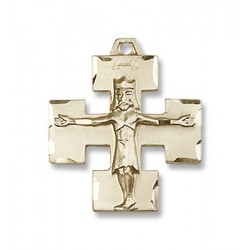 Gold Filled Modern Crucifix Pendant