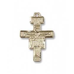 Gold Filled San Damiano Crucifix Pendant