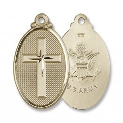 Army w/Cross Gold Filled Pendant