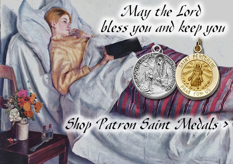 Patron Saint Medals - Saint Bernadette - Patron Saint of the Sick