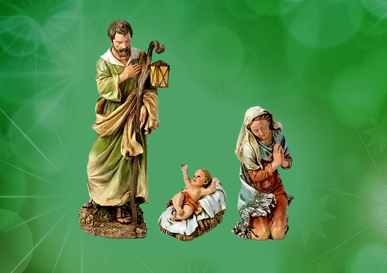 """3 pc. Set-27"""" Scale Holy Family"""