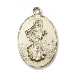 Gold Filled O/L of Medugorje Pendant