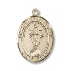 Gold Filled O/L of All Nations Pendant