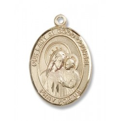 Gold Filled O/L of Good Counsel Pendant