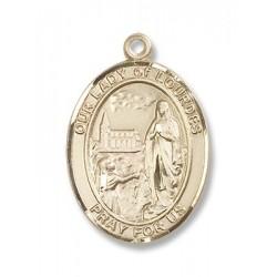 Gold Filled O/L of Lourdes Pendant