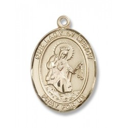 Gold Filled O/L of Mercy Pendant