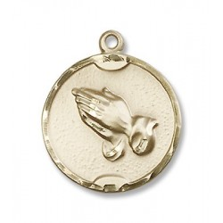 Gold Filled Praying Hands Pendant