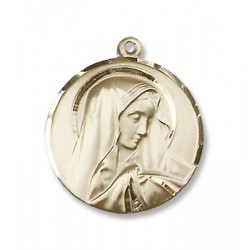 Gold Filled Sorrowful Mother Pendant
