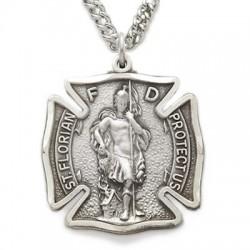 St. Florian Sterling Silver Medal - Firefighter