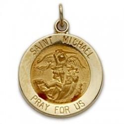 St. Michael 14K Gold Round Medal