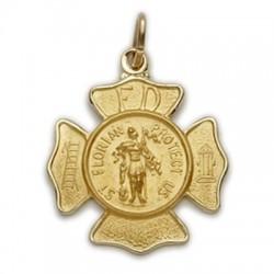 St. Florian 14K Gold Medal - Firefighter