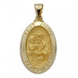 St. Joseph 14K Gold Oval Medal