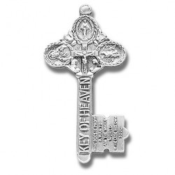 "Sterling Silver Key to Heaven w/18"" Chain - Boxed"
