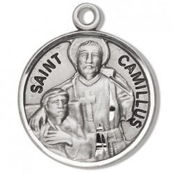 """St. Camillus Sterling Silver Round 20"""" Chain - Boxed"""