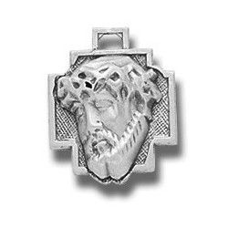 """Sterling Silver Christ Head w/18"""" Chain - Boxed"""