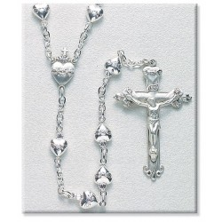 Sacred Heart Sterling Silver Rosary