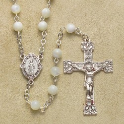 5mm Mother of Pearl Rosary - Boxed