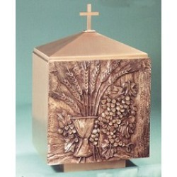 Tabernacle - Grapes and Wheat Bronze Bas Relief