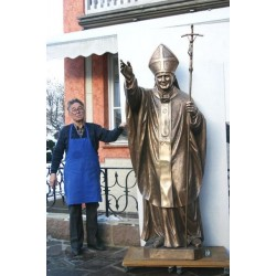 Pope John Paul II - Cast Bronze