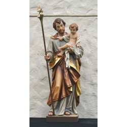 St. Joseph and Child - Woodcarved