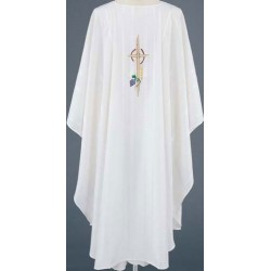 Mulitcolor Embroidered Vestment