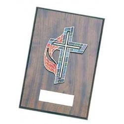 United Methodist Cross Plaque