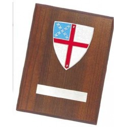 Episcopal Wall Plaque Pewter