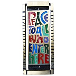 Peace To All Who Enter Here Door Knocker