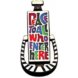 Peace To All Door Knocker