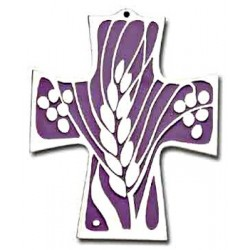 Wheat and Grapes Wall Cross