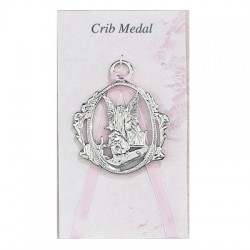 Guardian Angel Crib Medal - Girl