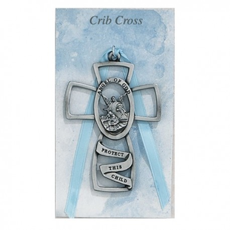 Guardian Angel Crib Cross - Boy