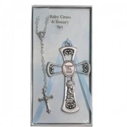 Praying Boy Cross and Rosary Set