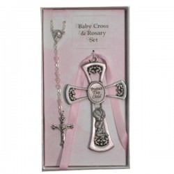 Praying Girl Cross and Rosary Set
