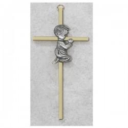 Boy Praying Cross