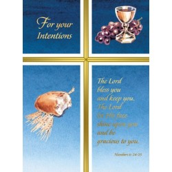 For Your Intentions Mass Card