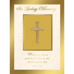 In Loving Memory Mass Card