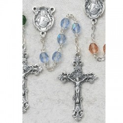 6mm Blue/September Rosary