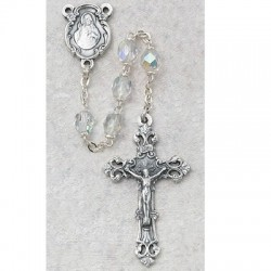 6mm Crystal/April Rosary