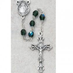 6mm Emerald/May Rosary