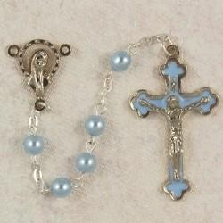 5mm Blue Glass Children's Rosary