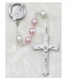 6mm Pink Pearl Rosary