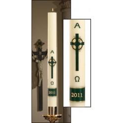 Emerald Cross Paschal Candle