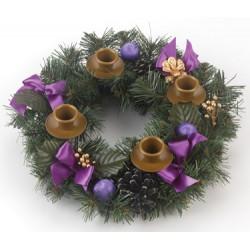 Advent Wreath (purple ribbon)