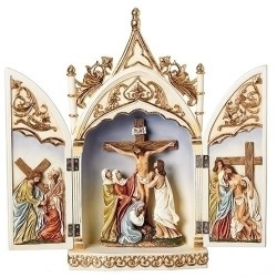 Crucifix Triptych Scene
