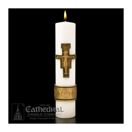 Christ Candle-Cross of St. Francis Candle