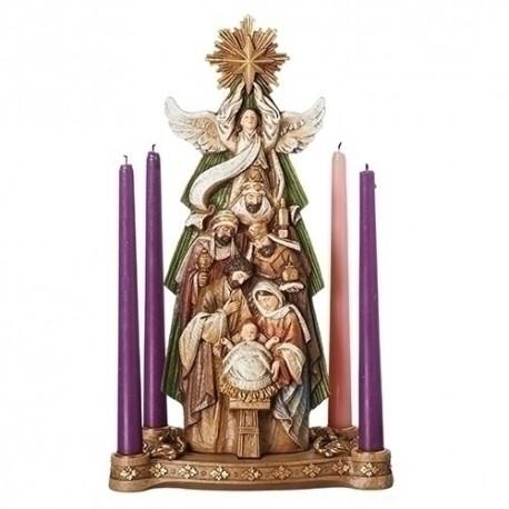 Nativity Under Star Candle Holder